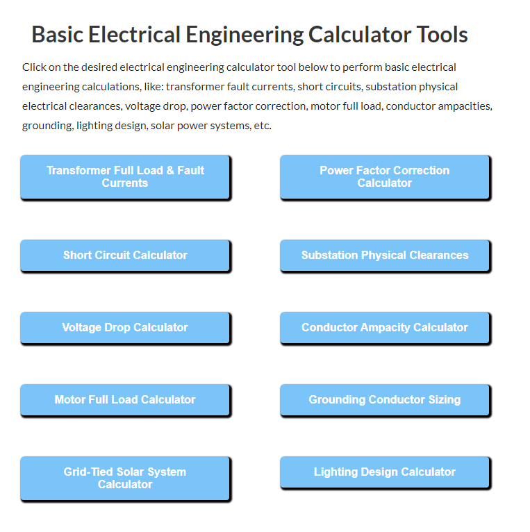 Electrical-Engineering-Calculator-Tools