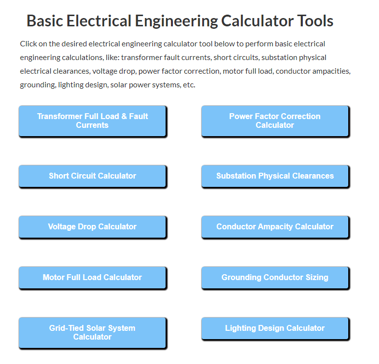 Basic-EE-Calculator-Tools